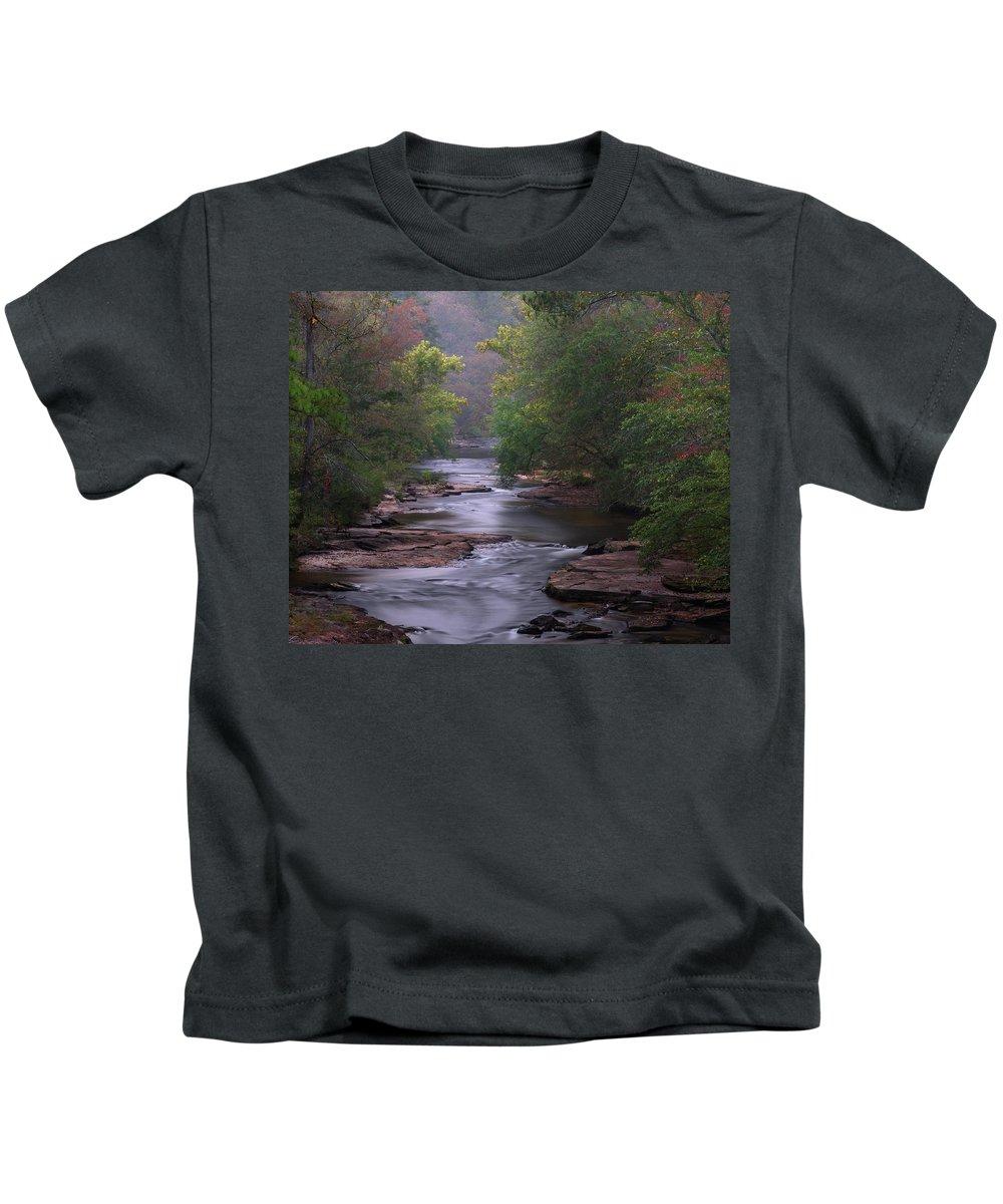 Creek Kids T-Shirt featuring the photograph Winding Creek by Joe Gilbreath