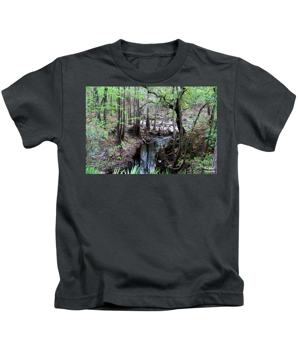 Sopchoppy River Kids T-Shirt featuring the photograph Winding Sopchoppy River by Barbara Bowen