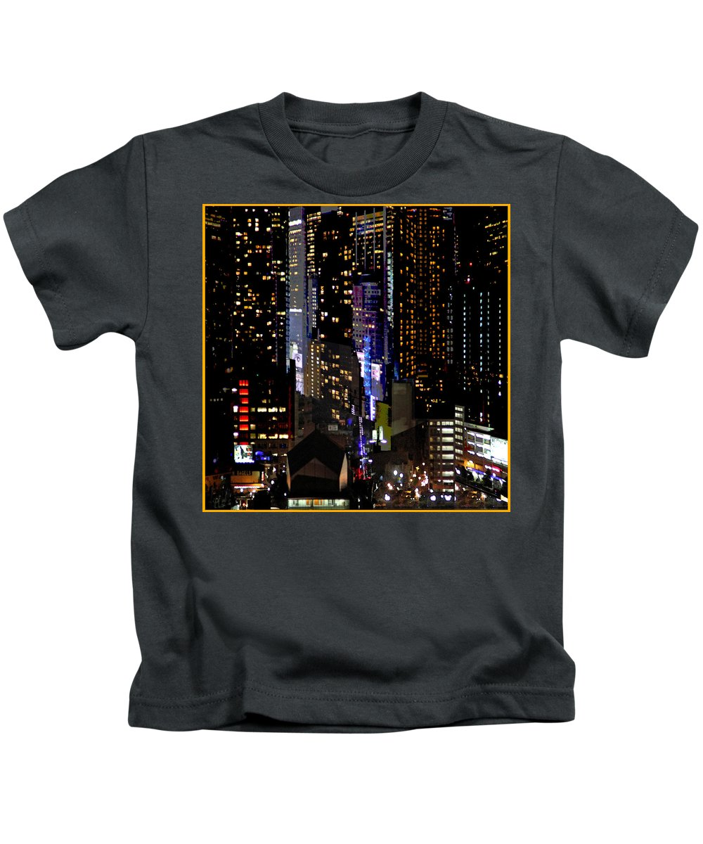 New York City Kids T-Shirt featuring the photograph Windows Across The River by Guy Ciarcia