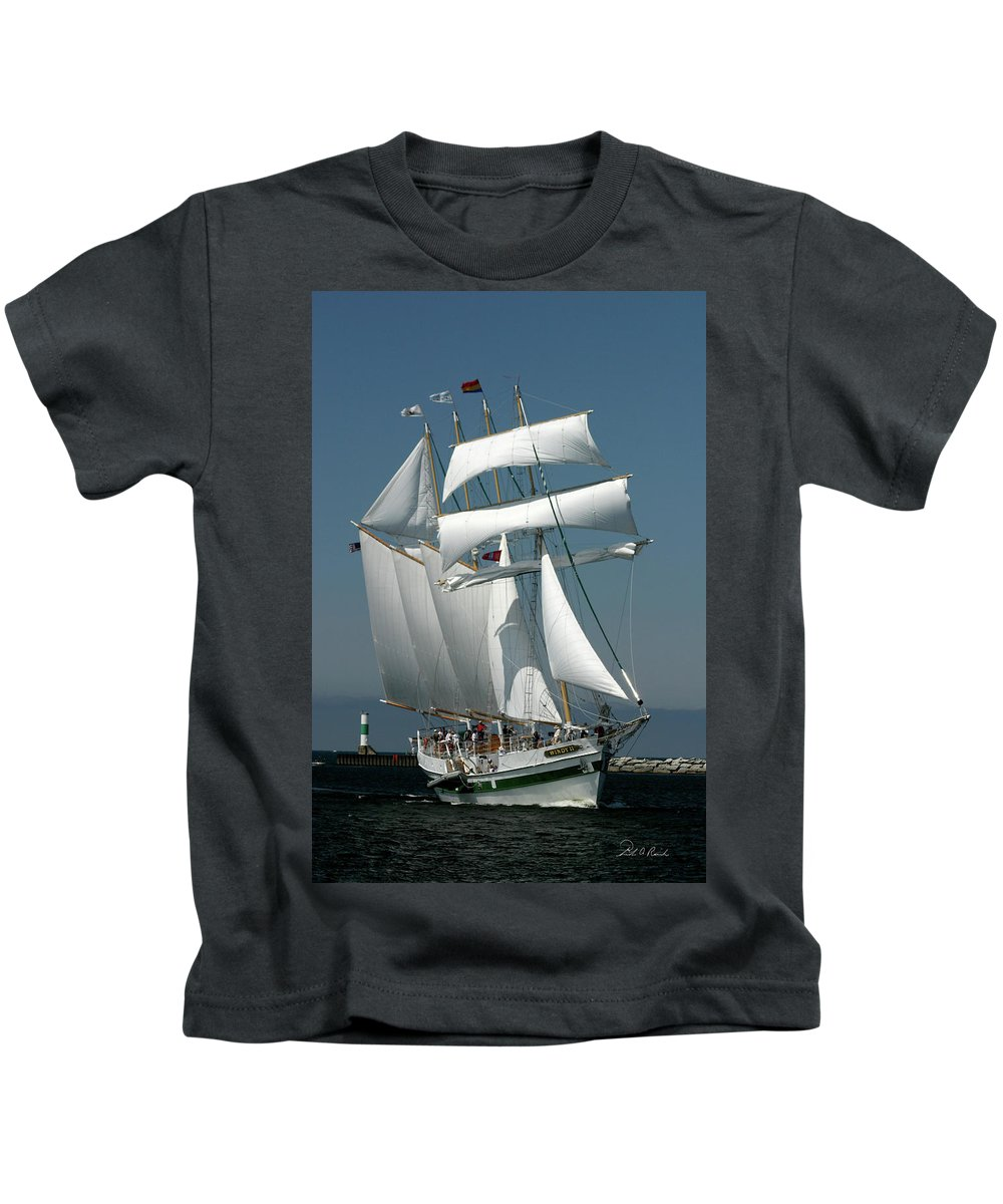 Photography Kids T-Shirt featuring the photograph Windy II by Frederic A Reinecke