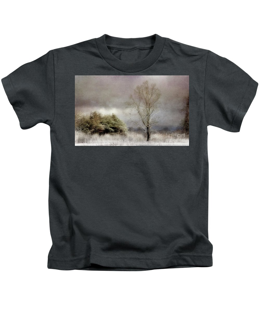 Winter Trees Kids T-Shirt featuring the photograph Winter Beginning by Michael Eingle