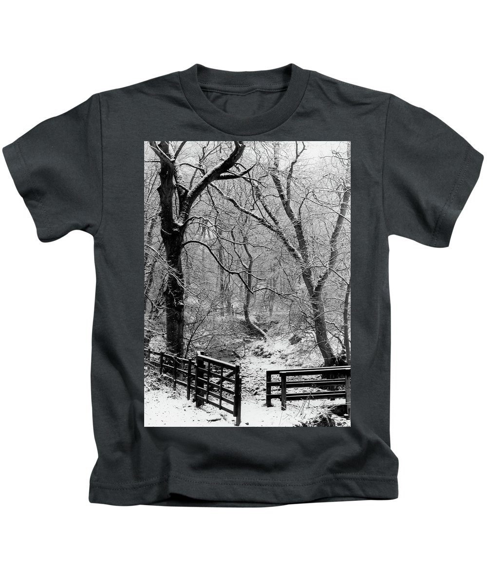 Kids T-Shirt featuring the photograph Winter, Ham Burn, Whitley Mill by Iain Duncan