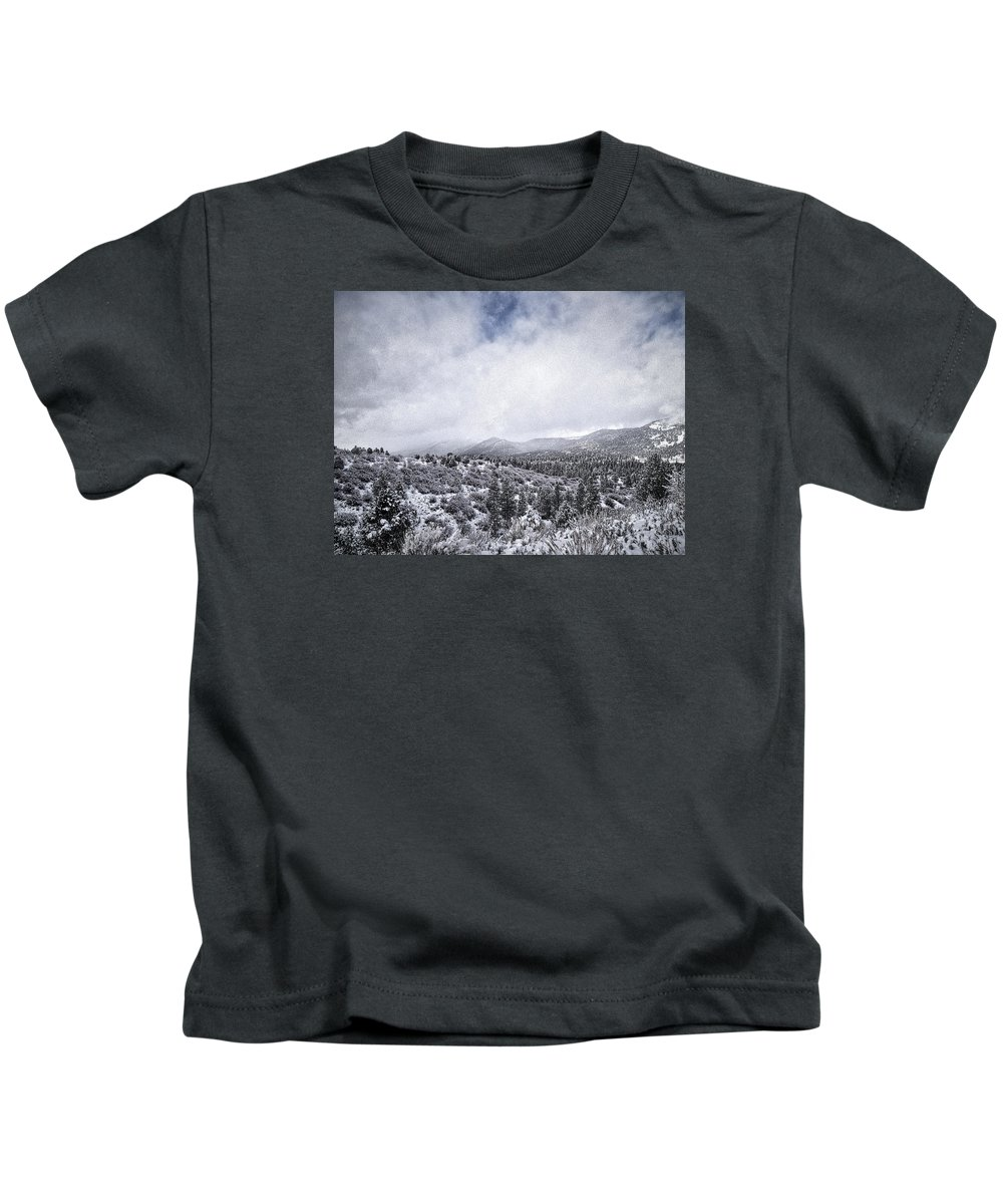 Snow Kids T-Shirt featuring the photograph Winter In The Valley by Douglas Craig