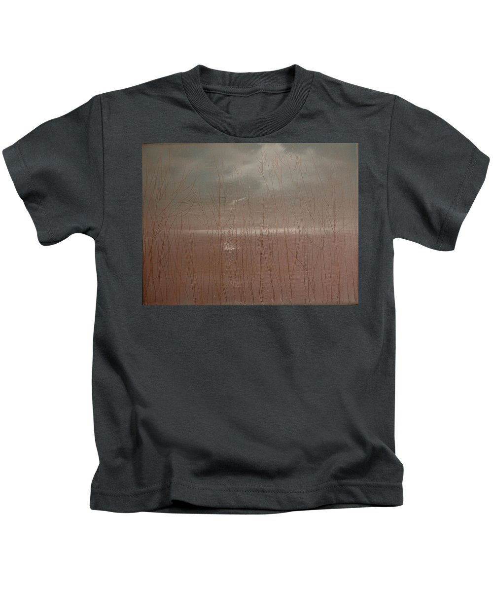 Dusk Kids T-Shirt featuring the painting Winter Of Hope by Jack Diamond