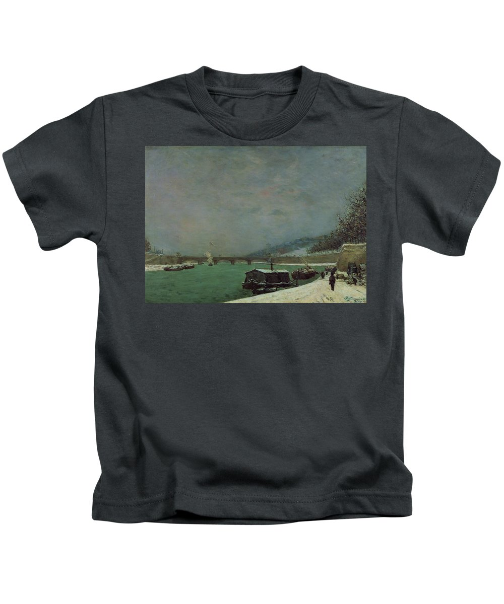 Cold Kids T-Shirt featuring the painting Winter by Paul Gauguin