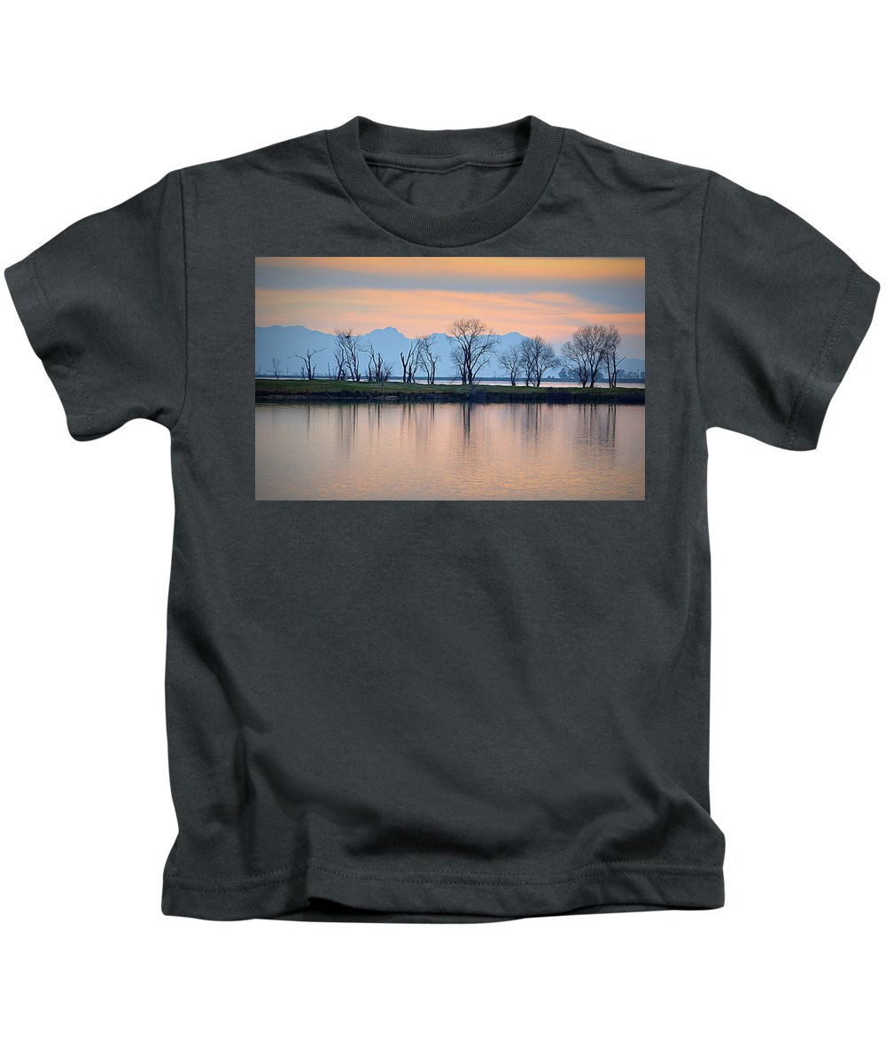 Scenic Kids T-Shirt featuring the photograph Winter Reflections by AJ Schibig