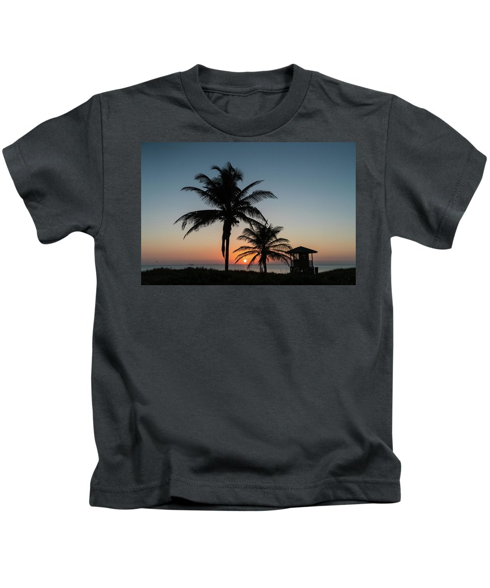 Florida Kids T-Shirt featuring the photograph Winter Solstice Sunrise Delray Beach Florida by Lawrence S Richardson Jr