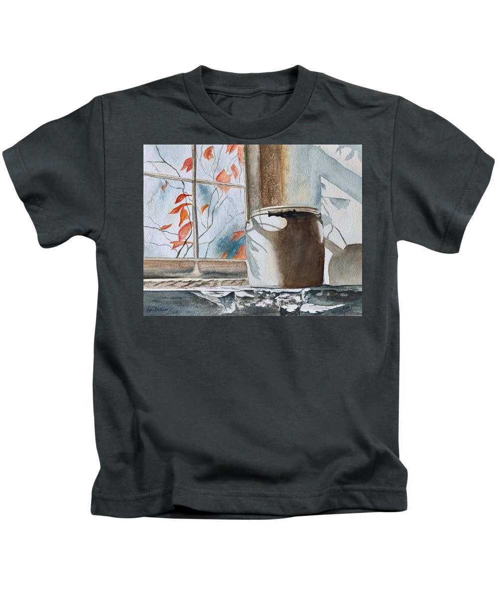 Winter Kids T-Shirt featuring the painting Winter Sun by Lyn DeLano
