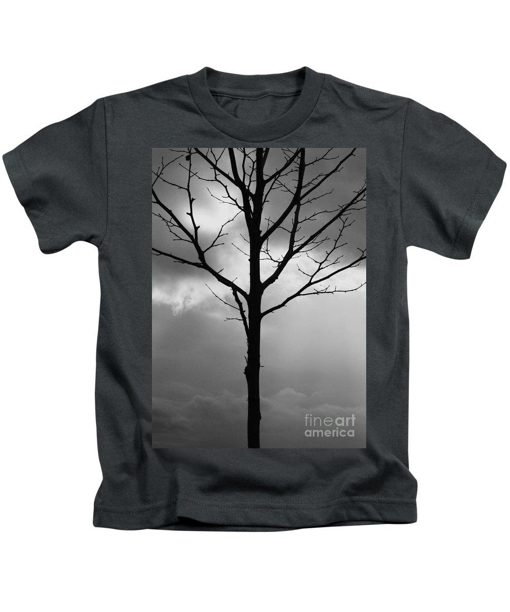 Winter Tree Kids T-Shirt featuring the photograph Winter Tree by Carol Groenen