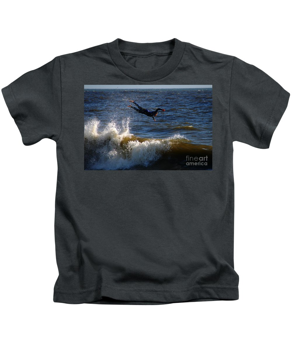 Clay Kids T-Shirt featuring the photograph Wipe Out by Clayton Bruster