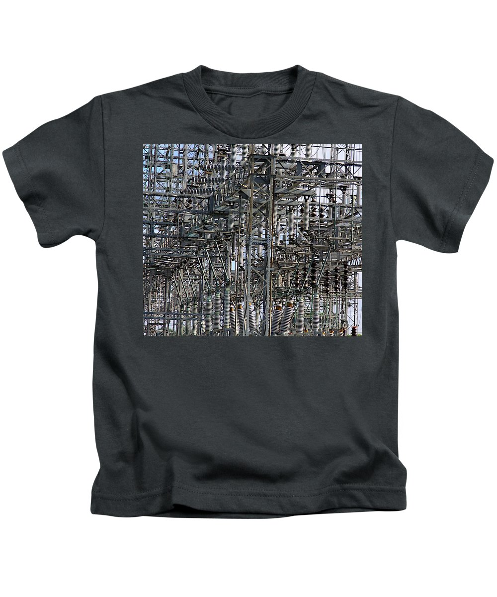 Abstract Kids T-Shirt featuring the photograph Wired by Robert Pearson