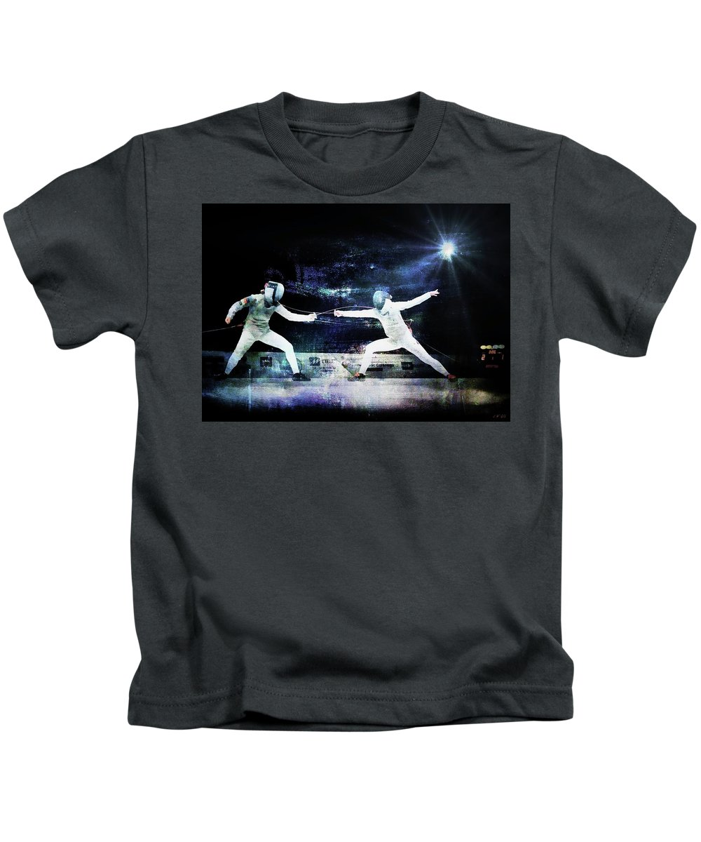 France Kids T-Shirt featuring the photograph Women's Foil by Jean Francois Gil