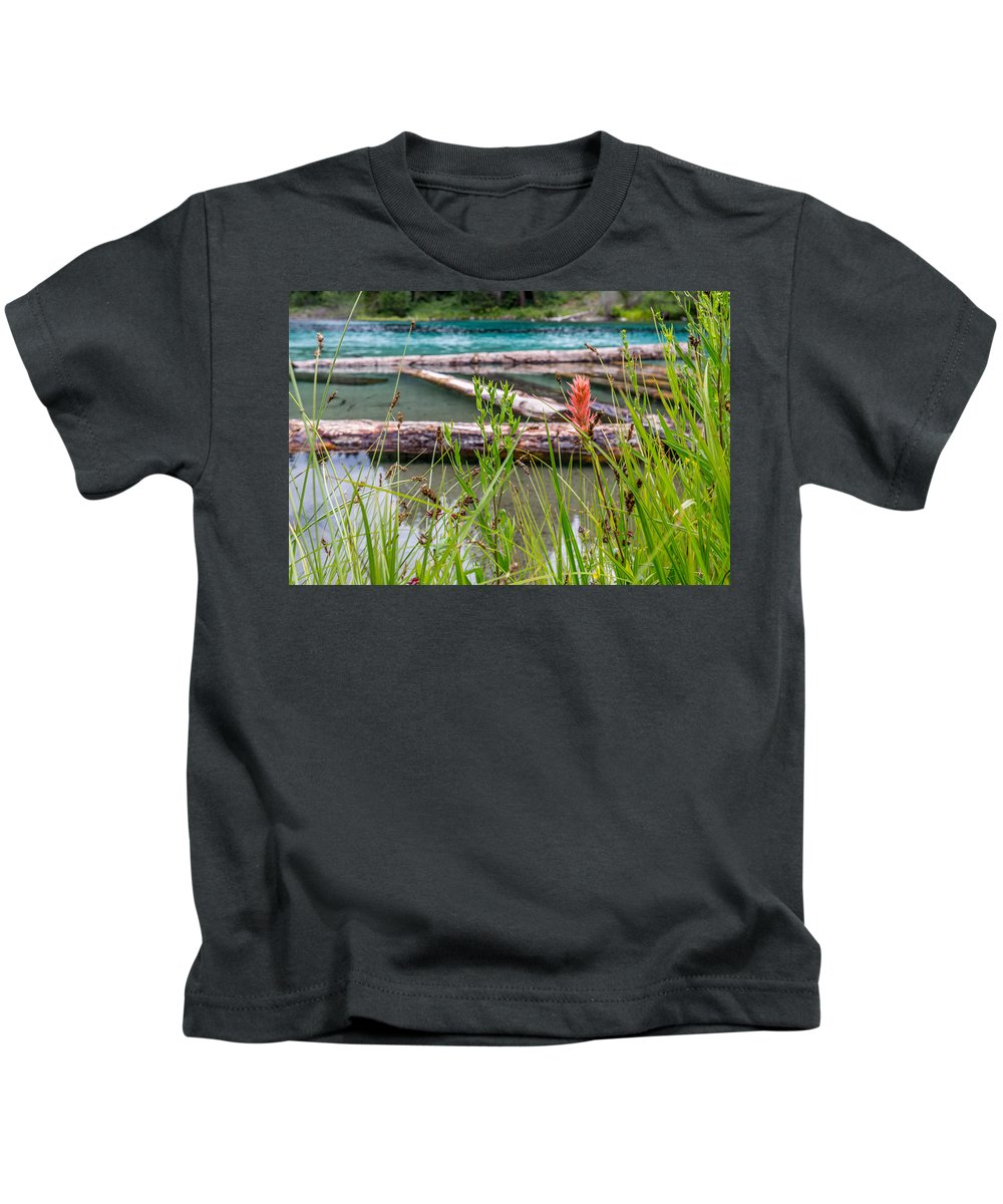 Oregon Kids T-Shirt featuring the photograph Wood River 07 by Michael Parks