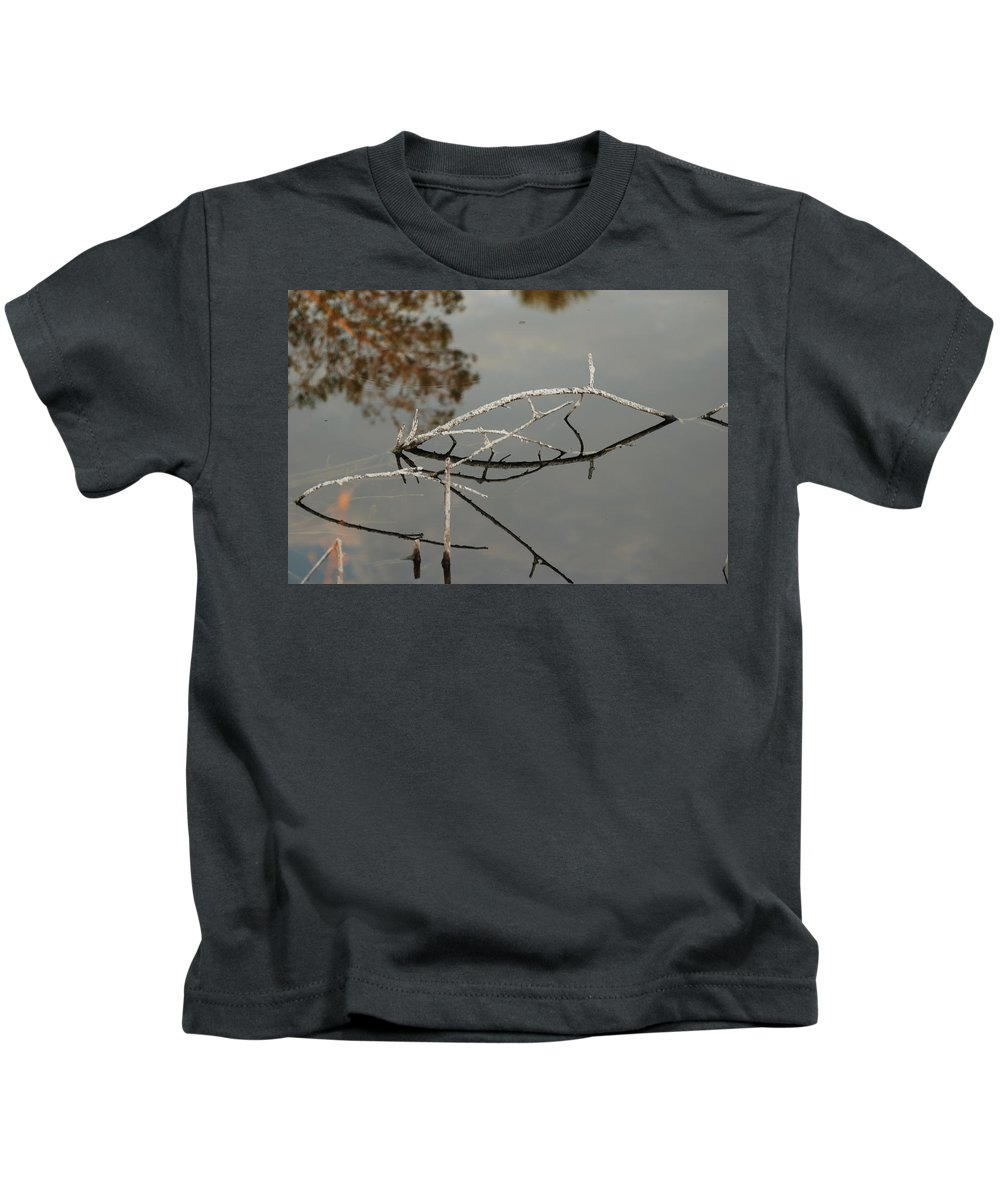 Pink Kids T-Shirt featuring the photograph Wooden Bridge In Color by Rob Hans