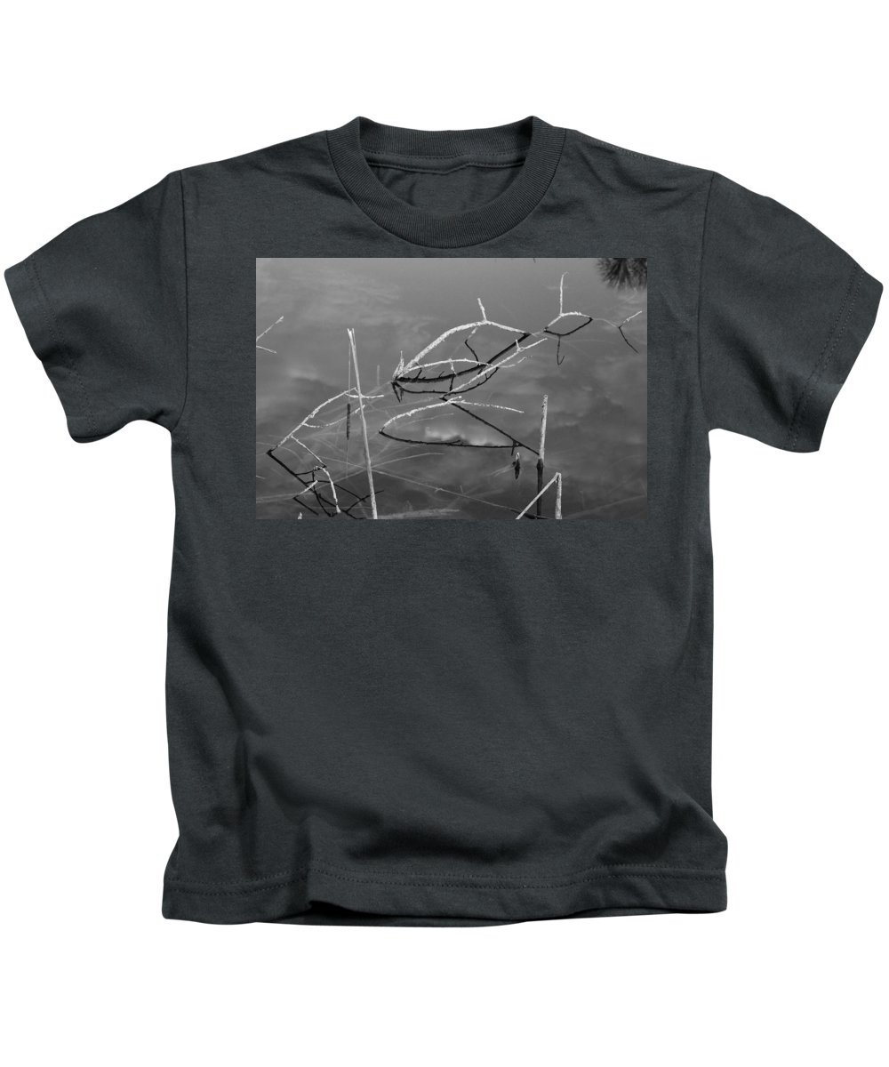 Black And White Kids T-Shirt featuring the photograph Wooden Bridge by Rob Hans