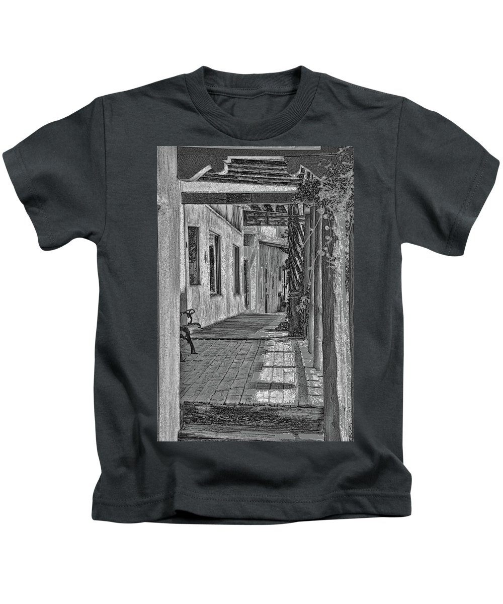 Walkway Kids T-Shirt featuring the photograph Wooden Walkway by Tommy Simpson