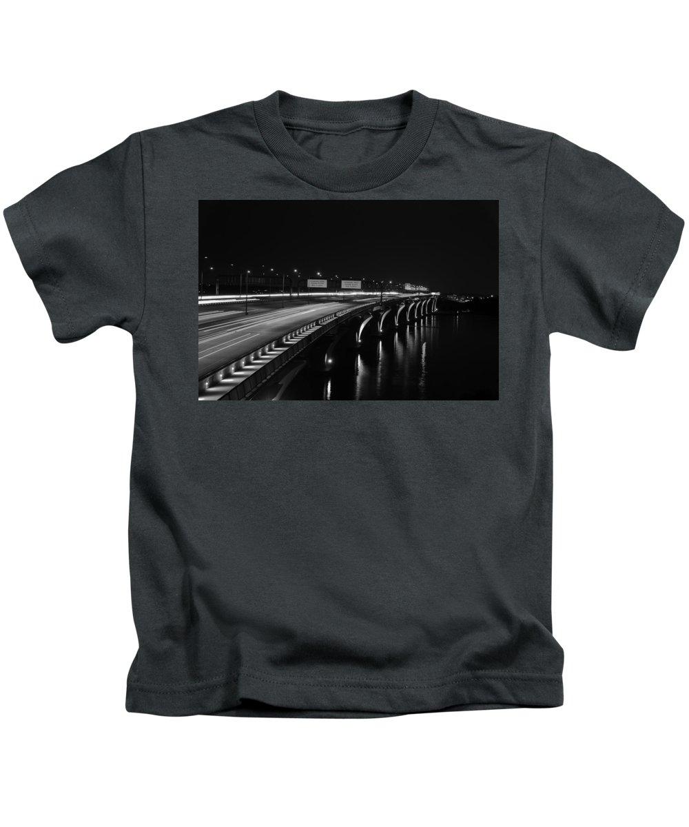 Bridge Kids T-Shirt featuring the photograph Woodrow Wilson Bridge by Oswald George Addison