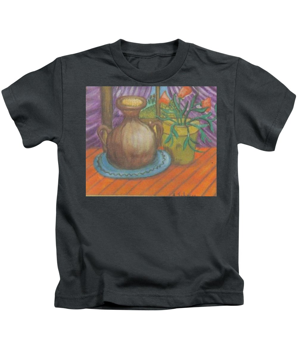 Still Life Kids T-Shirt featuring the painting Work by Andrew Johnson