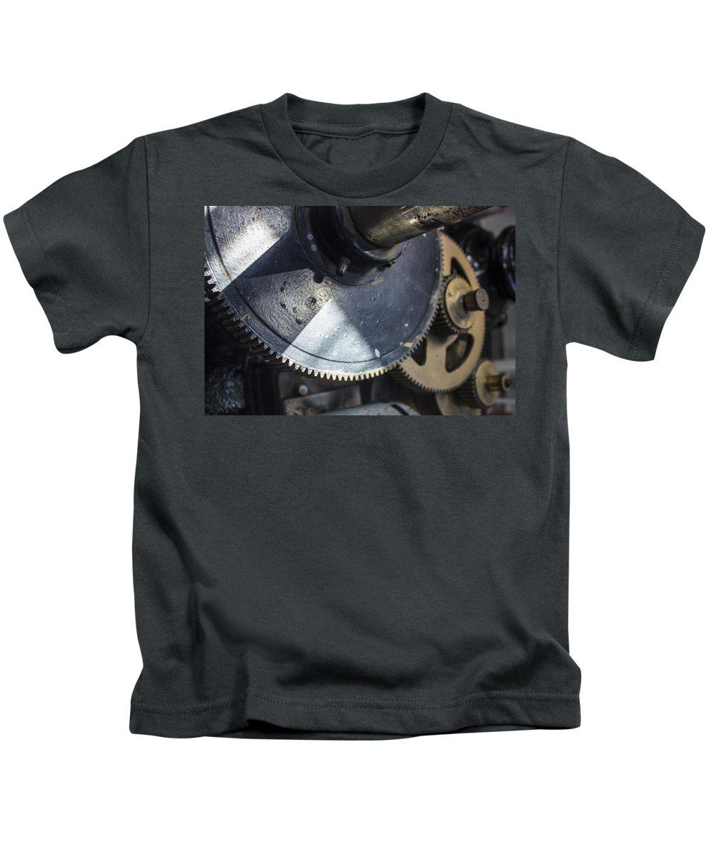 Gears Kids T-Shirt featuring the photograph Work In Progress by Zita Blazuk