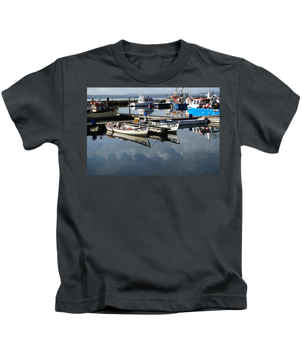 Kids T-Shirt featuring the photograph Working Boats by Chris Day