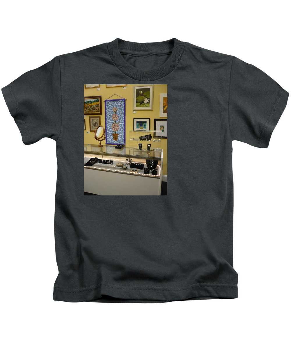 Oil Kids T-Shirt featuring the painting World-view by Sergey Ignatenko
