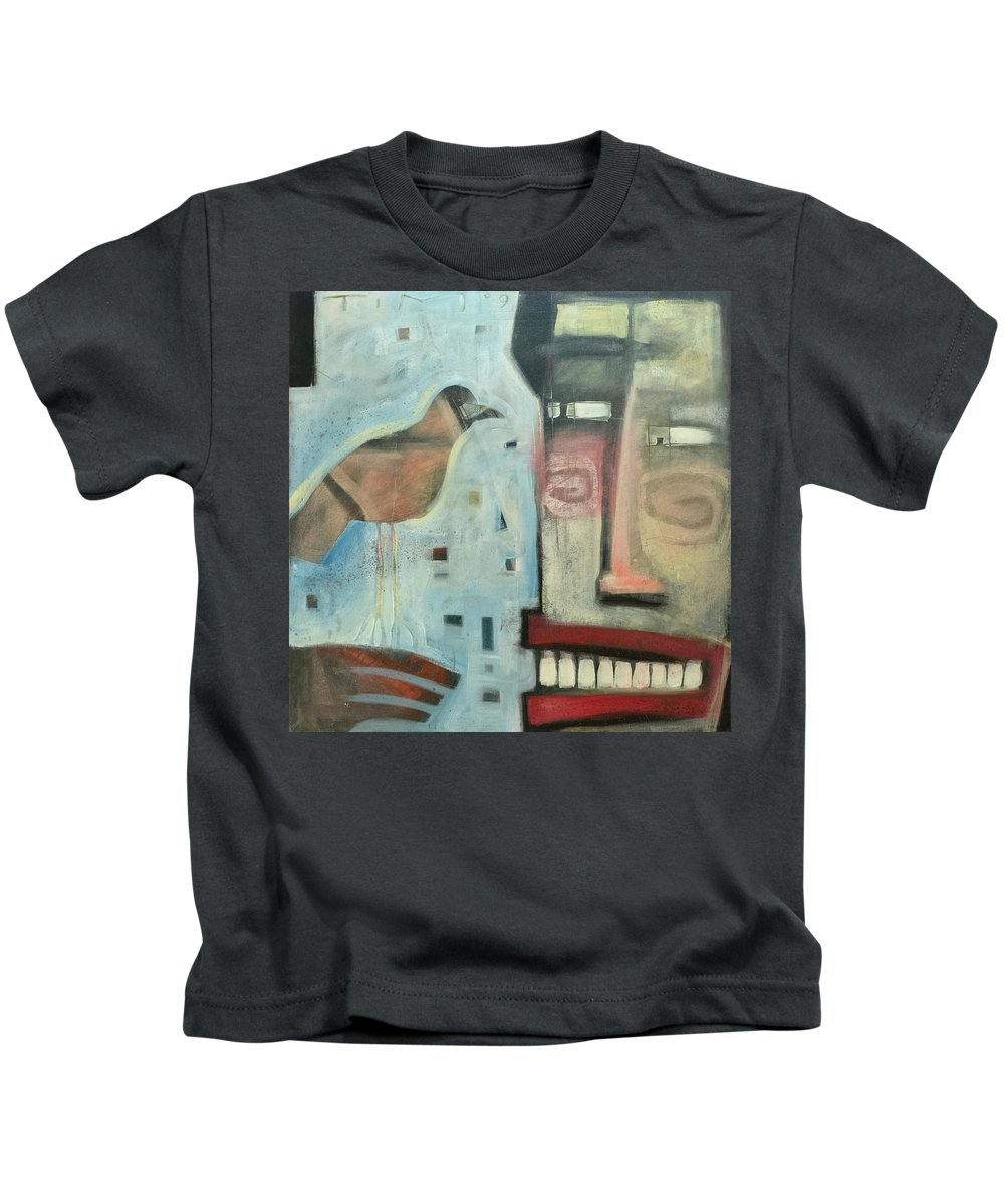 Man Kids T-Shirt featuring the painting Worth Two... by Tim Nyberg
