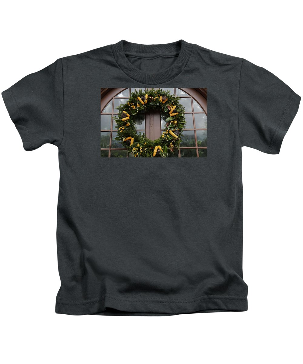 Wreath Kids T-Shirt featuring the photograph Wreath by Jeff Roney