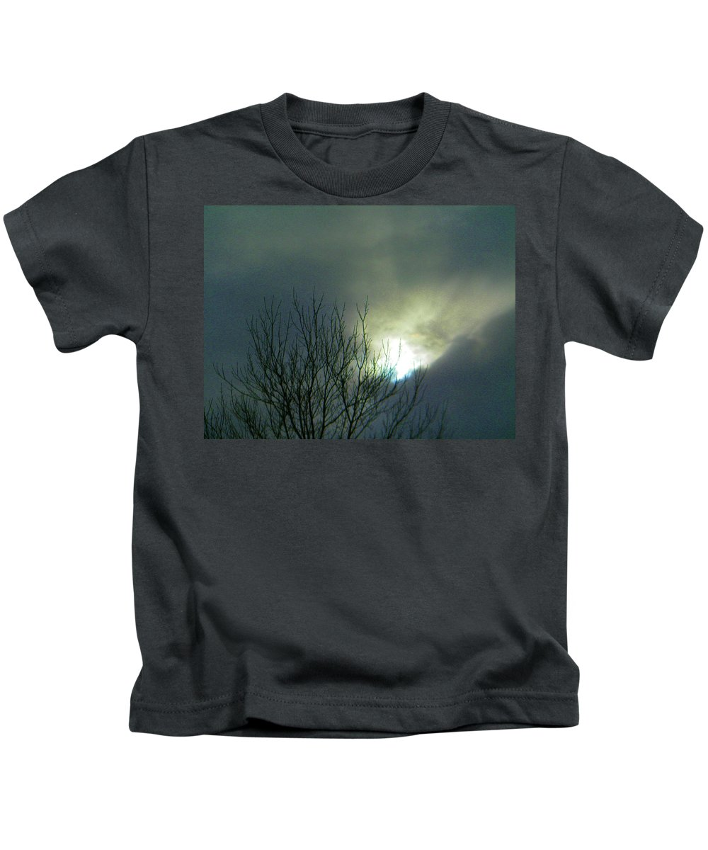 Abstract Kids T-Shirt featuring the photograph Wyoming Sky by Lenore Senior