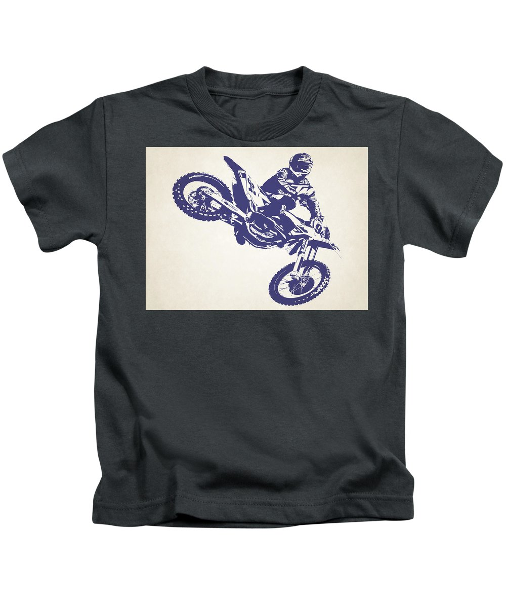 X Games Kids T-Shirt featuring the photograph X Games Motocross 1 by Stephanie Hamilton