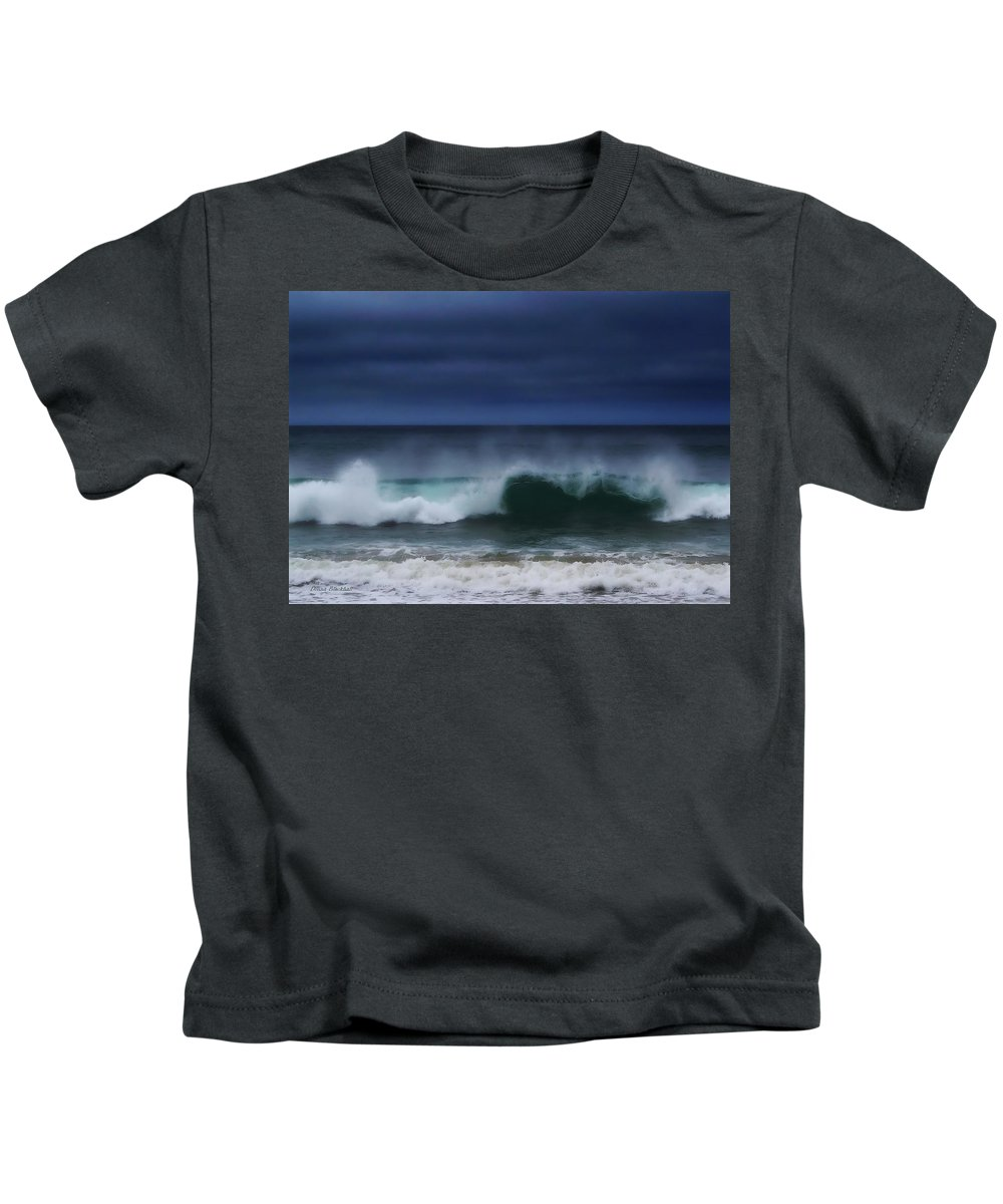 Ocean Kids T-Shirt featuring the photograph Yawning Wave by Donna Blackhall
