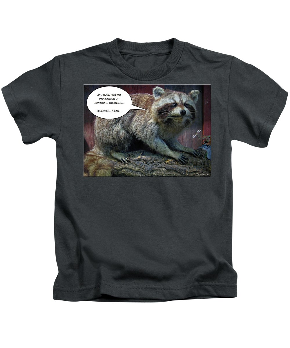 2d Kids T-Shirt featuring the photograph Yeah See by Brian Wallace