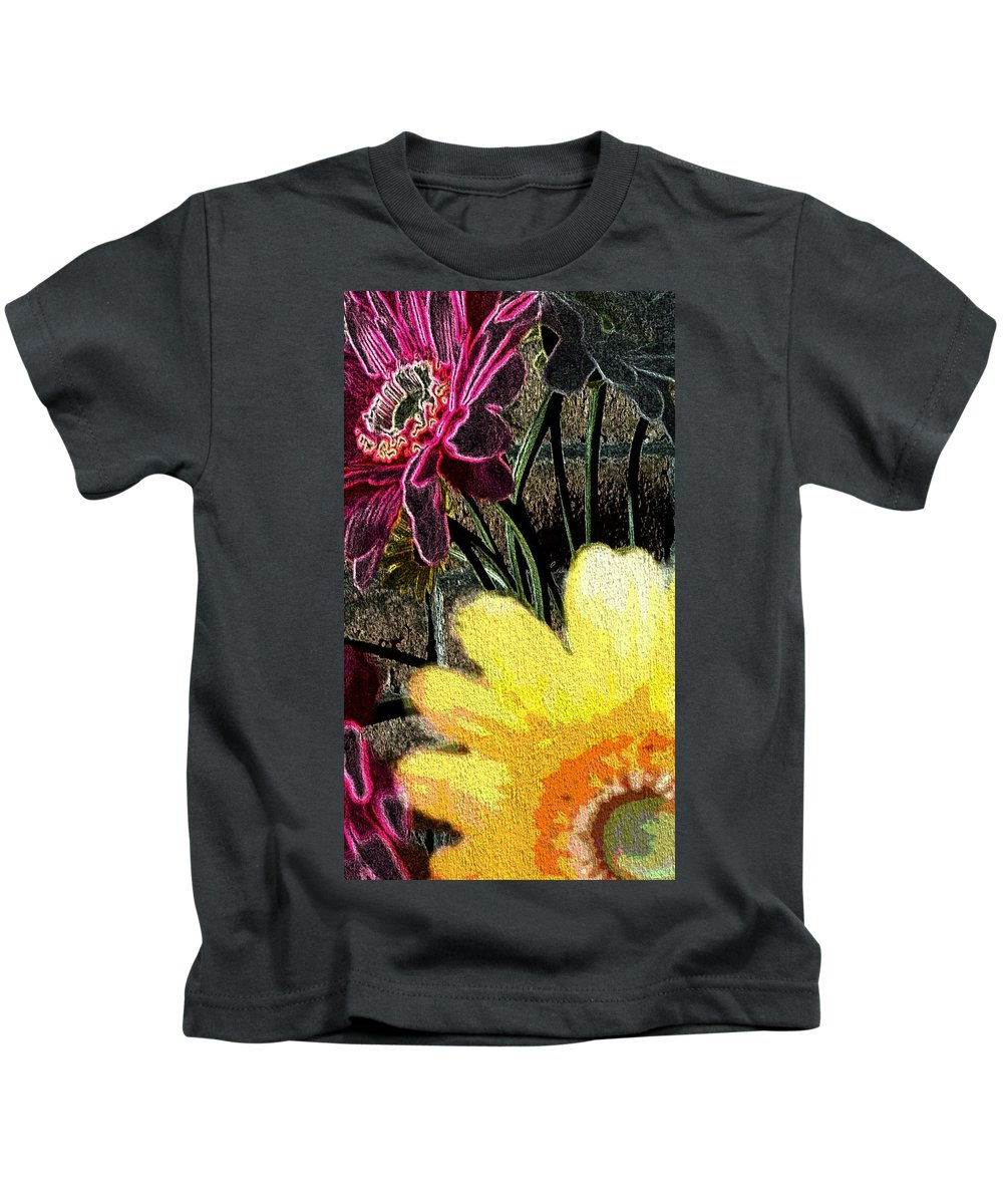 Kids T-Shirt featuring the photograph Yellow Floral by Ann Hughes