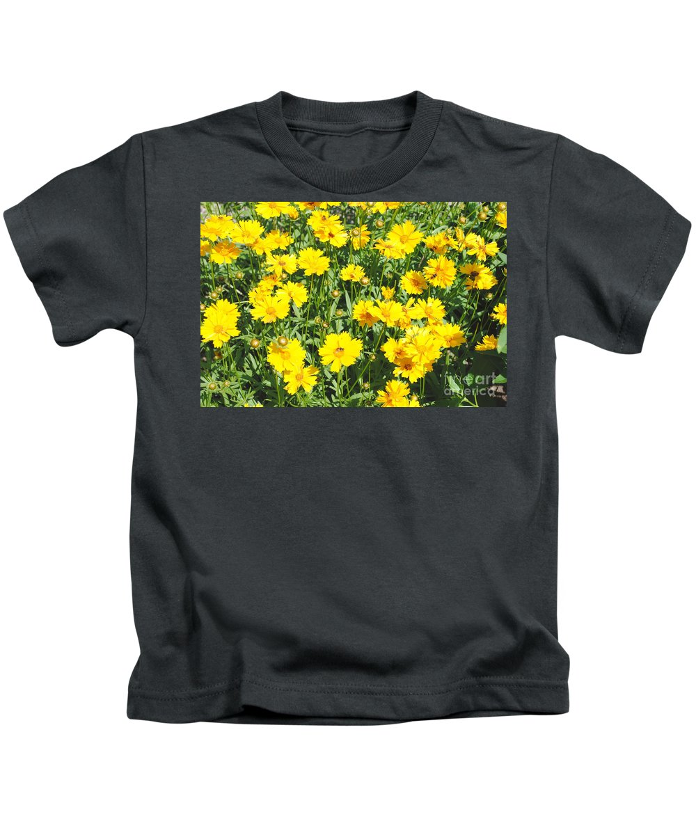 Yellow Kids T-Shirt featuring the photograph Yellow Flowers by Jost Houk