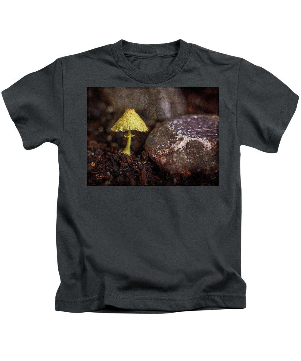Mushroom Kids T-Shirt featuring the photograph Yellow Mushroom by Jim Ziemer