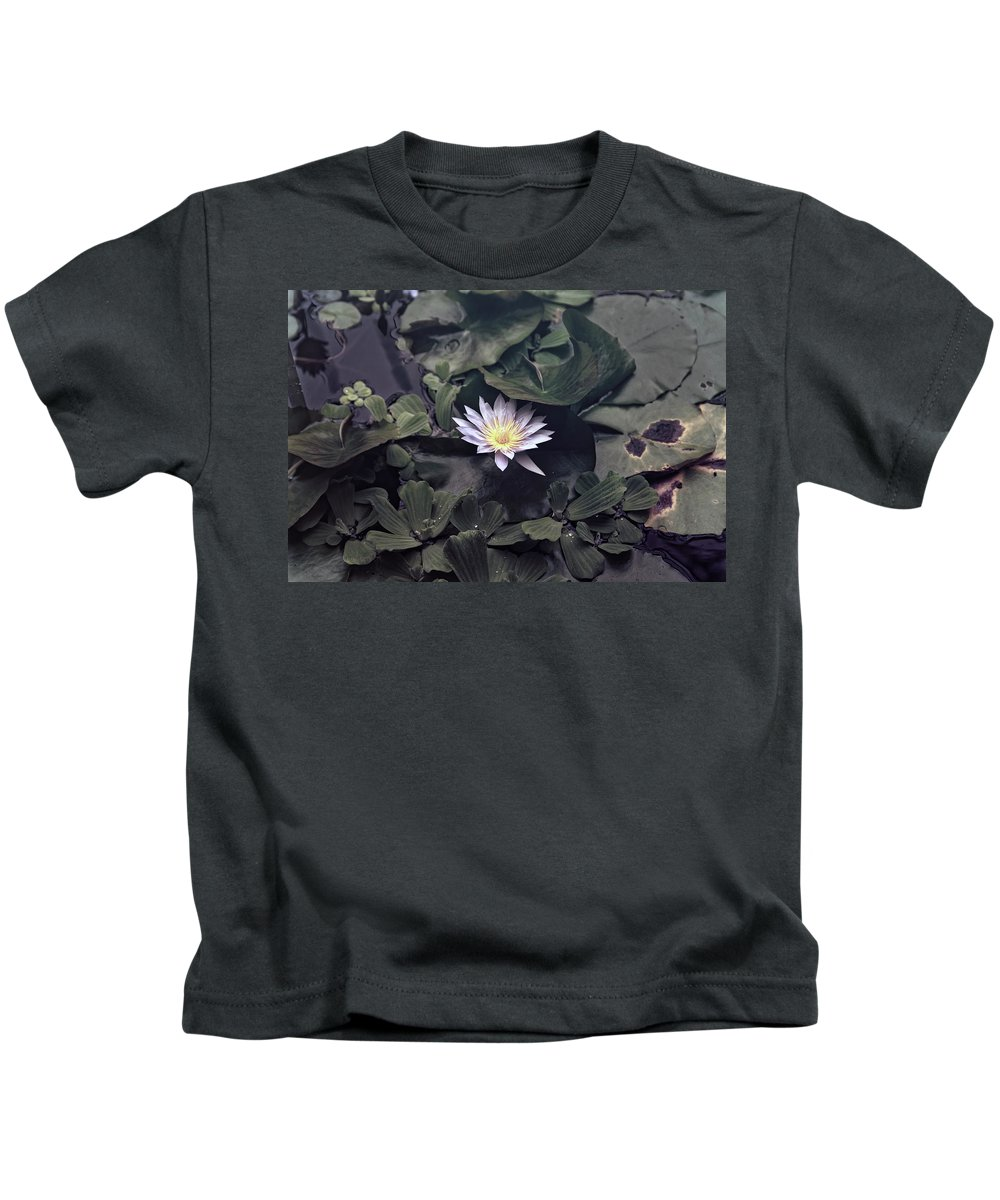 Water Lily Kids T-Shirt featuring the photograph Yellow Water Lily by Scott Hill
