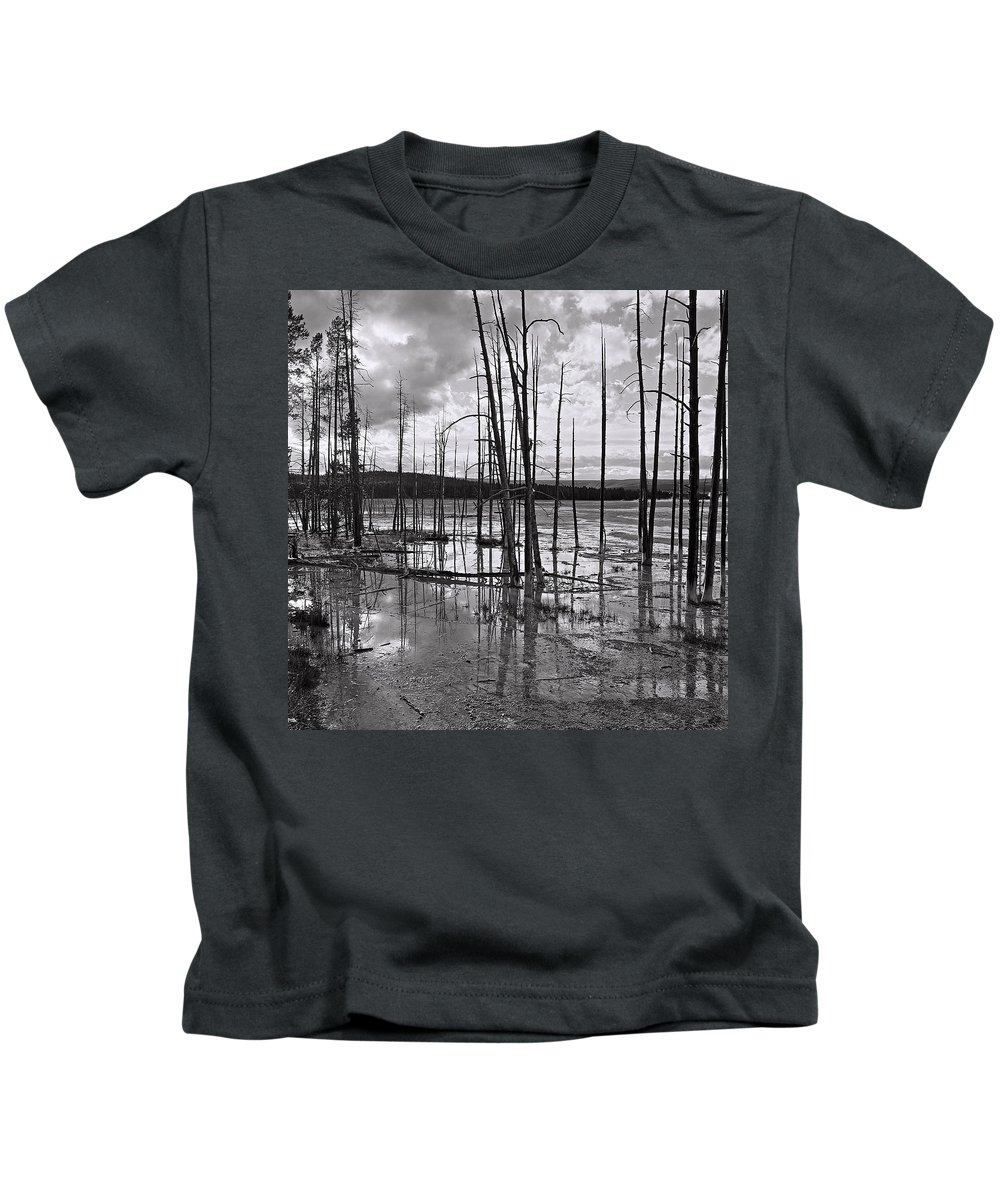 America Kids T-Shirt featuring the photograph Yellowstone 145 by Ingrid Smith-Johnsen