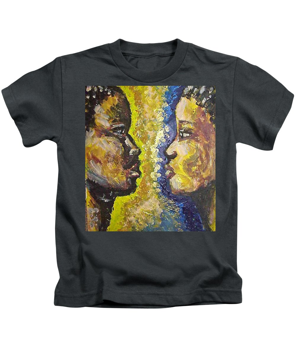 Kids T-Shirt featuring the painting You And I by Jan Gilmore