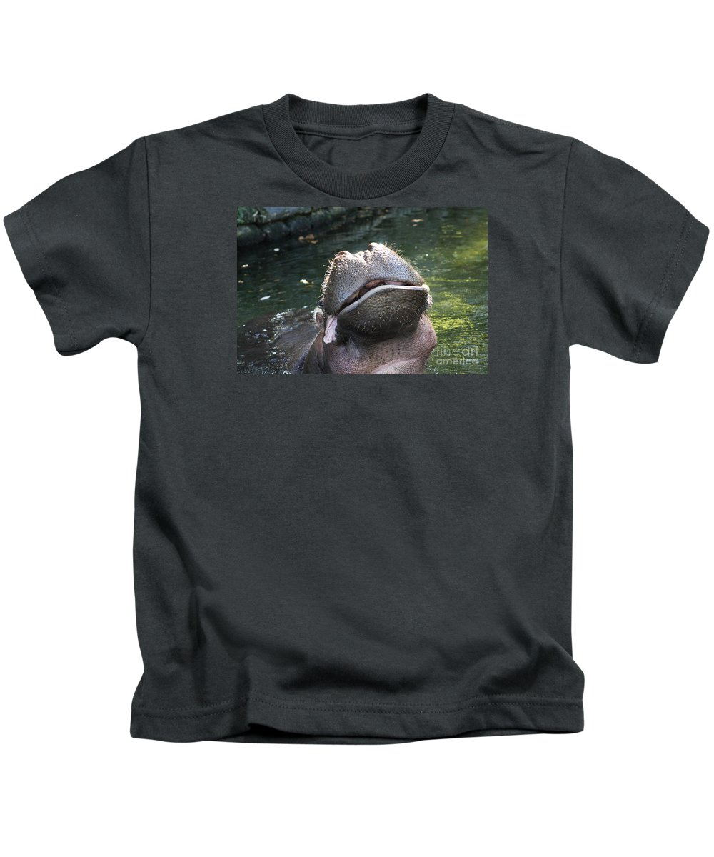 Hippo Kids T-Shirt featuring the photograph You Make Me Laugh by Christiane Schulze Art And Photography