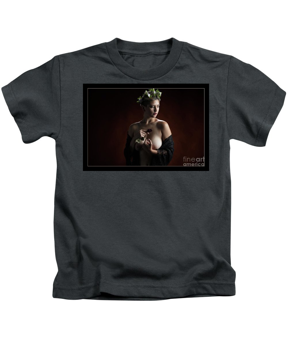 Nude Kids T-Shirt featuring the photograph Young Woman Nude 1729.180 by Kendree Miller