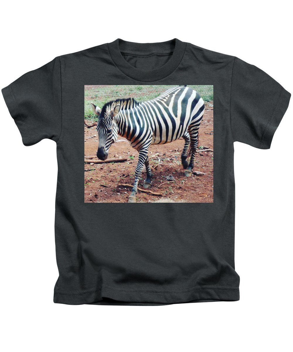 Orphan Kids T-Shirt featuring the photograph Zebra by Serah Mbii