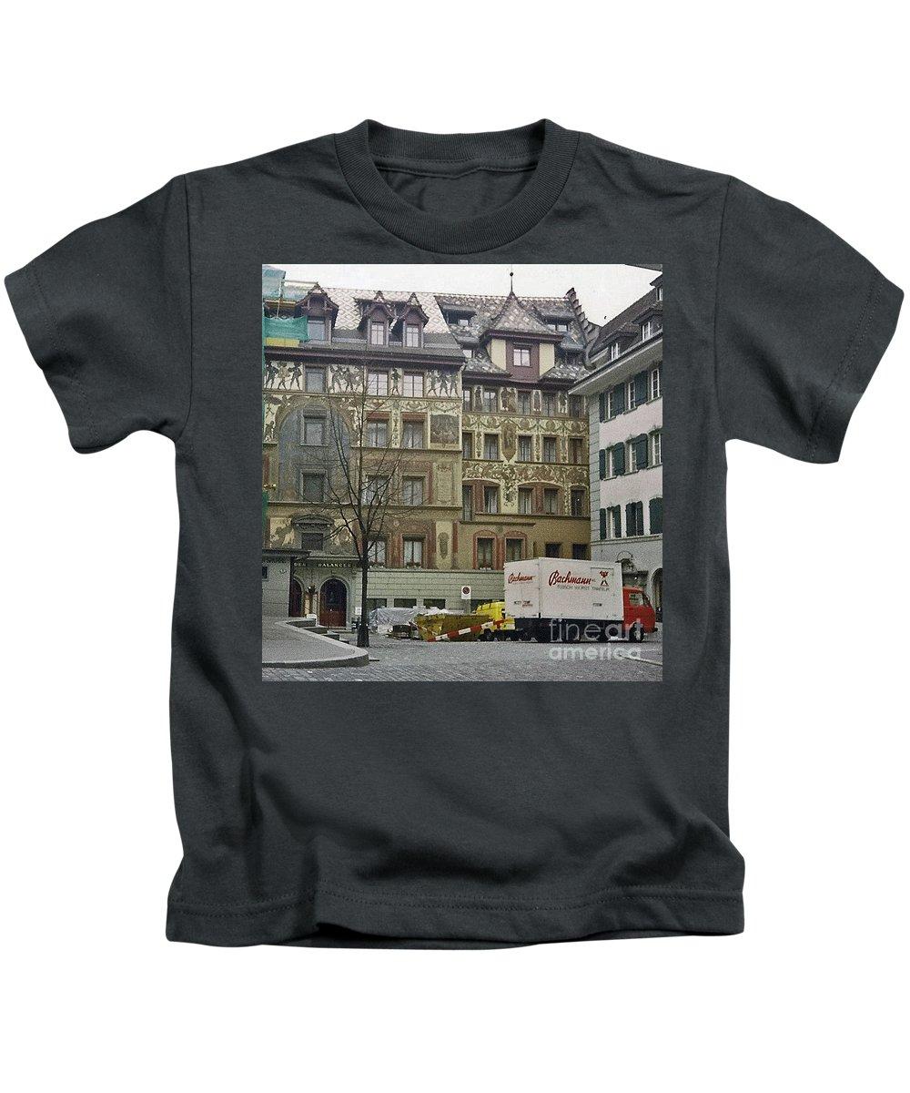 Zurich Kids T-Shirt featuring the photograph Zurich Switzerland by Jost Houk