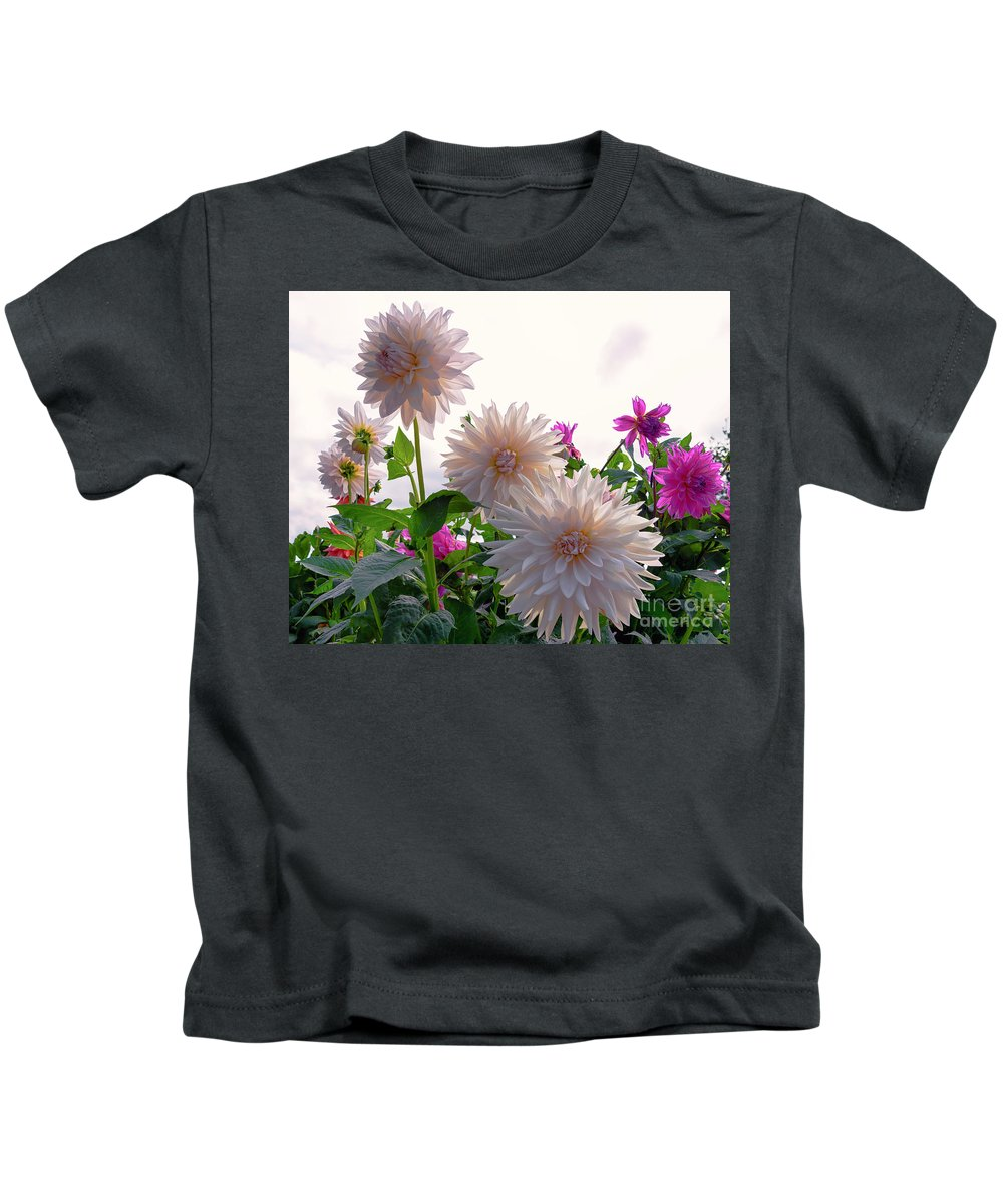 Annual Kids T-Shirt featuring the photograph Among The Flowers by Joe Geraci