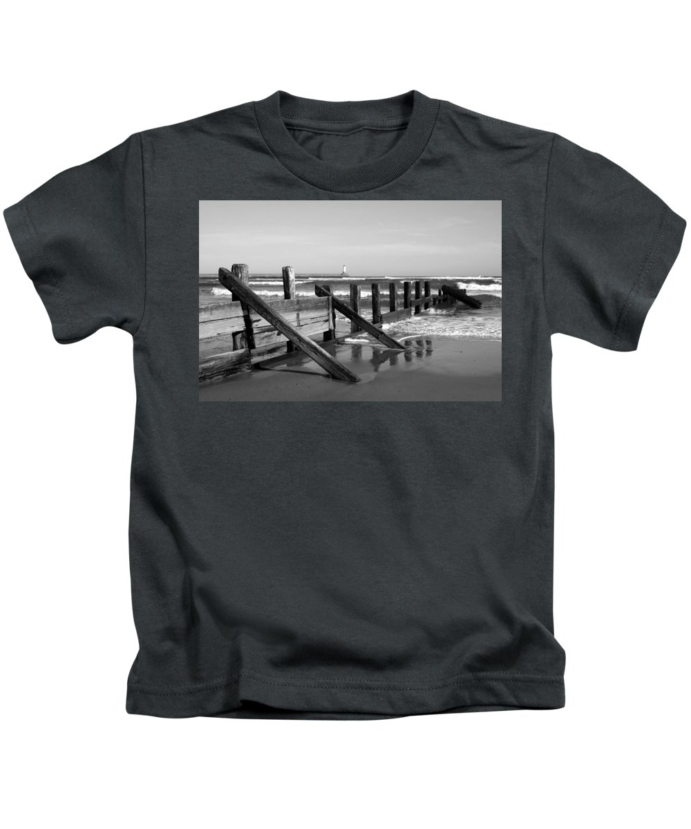 Spittal Kids T-Shirt featuring the photograph Sea Barrier by Victor Lord Denovan
