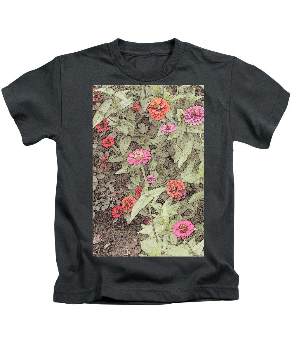 Flower Kids T-Shirt featuring the digital art Thumbelina by Barbara Brace