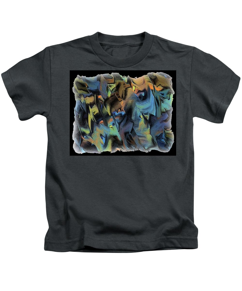 Abstract Art Kids T-Shirt featuring the digital art 17cq by Ely Arsha