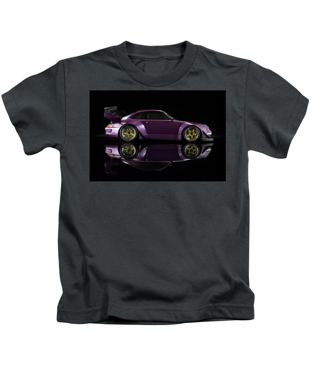 Porsche Kids T-Shirt featuring the photograph Porsche Rwb 993 Rauh Welt 4 by Evgeny Rivkin