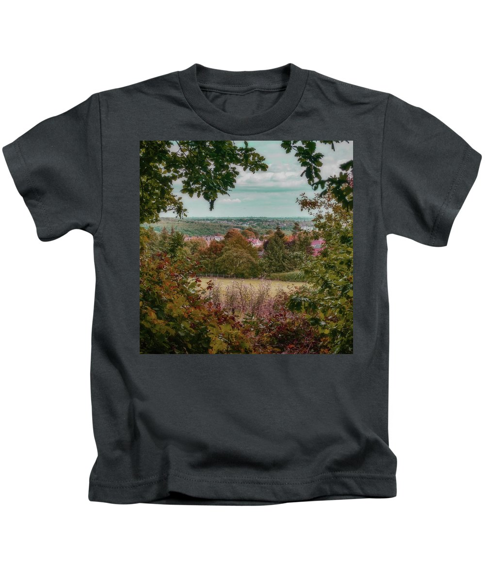 Ancient Kids T-Shirt featuring the photograph A Hint Of Autumn by Colin Metcalf
