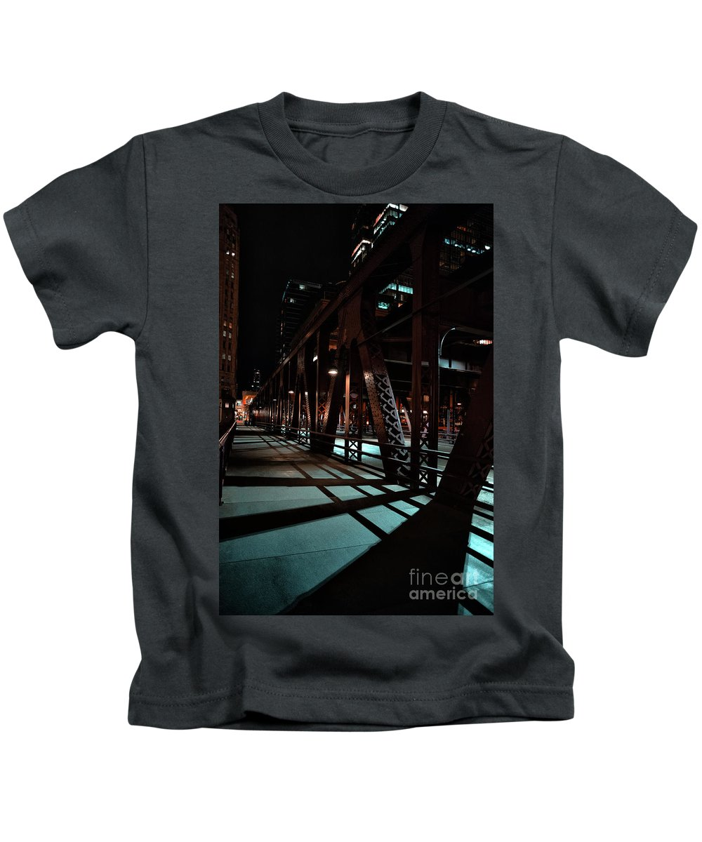 Chicago Kids T-Shirt featuring the photograph Across The Bridge by Bruno Passigatti