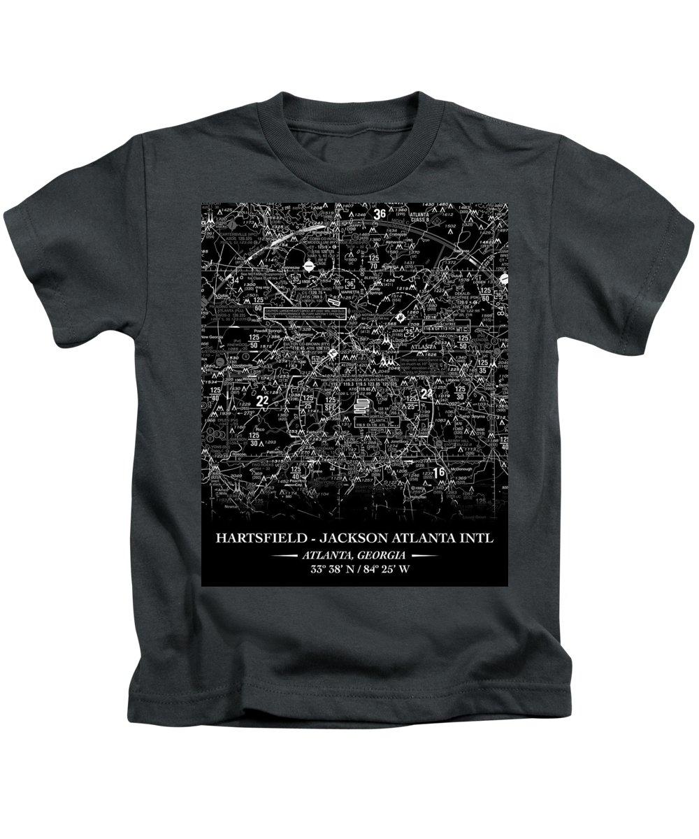 Atl Kids T-Shirt featuring the digital art Atlanta Sectional by RadarContact