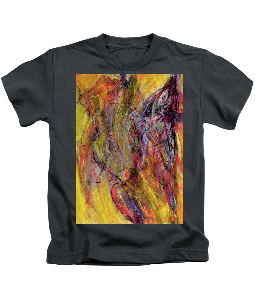 Abstract Kids T-Shirt featuring the painting Bamboozle by Kit Kelley